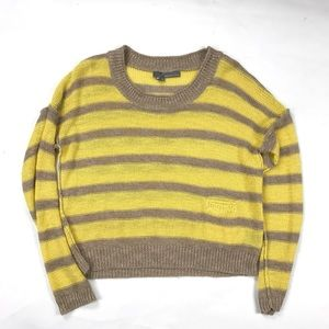 360 Sweater Striped Knit Scoop Neck Sweater